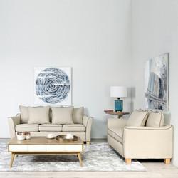 sofa 3 y 2 beige
