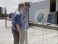 Evan Steingarten and Matt Berck in The Bootlegger.