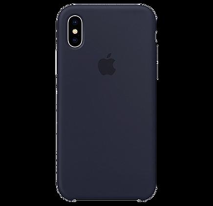 Чехол для iPhone X/XS Silicone Case Dark Blue