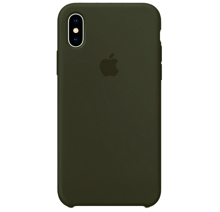 Чехол для iPhone XS Max Silicone Case Khaki