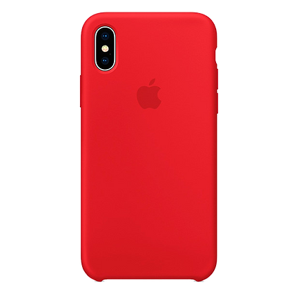 Чехол для iPhone X/XS Silicone Case Red