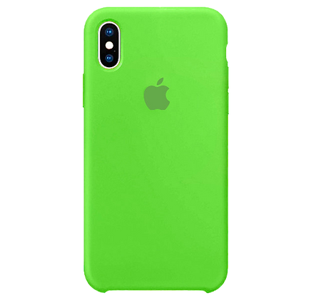 Чехол для iPhone X/XS Silicone Case Green