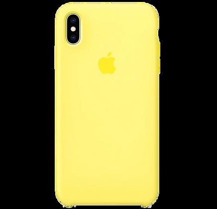 Чехол для iPhone XS Max Silicone Case Lemon