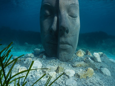 Cannes' underwater mask museum by Jason deCaires Taylor