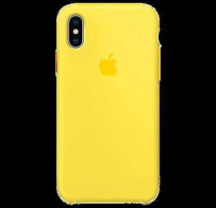 Чехол для iPhone X/XS Silicone Case Yellow
