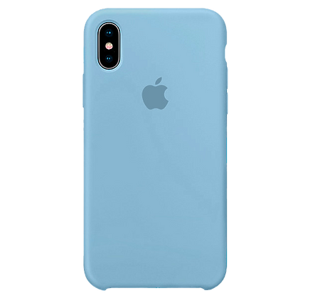 Чехол для iPhone X/XS Silicone Case Light Blue