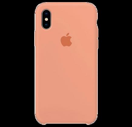 Чехол для iPhone X/XS Silicone Case Peach