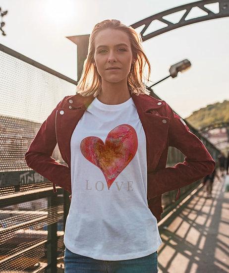 "Unisex Kurzarm T-Shirt ""Love"""