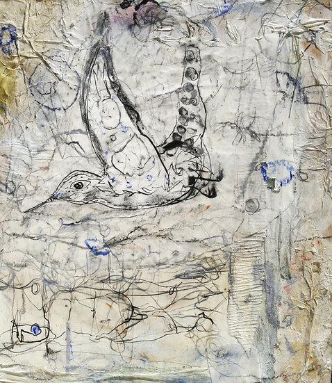 """THE POWER OF THE HUMMINGBIRD""  (2016)  50 X 50 cm."
