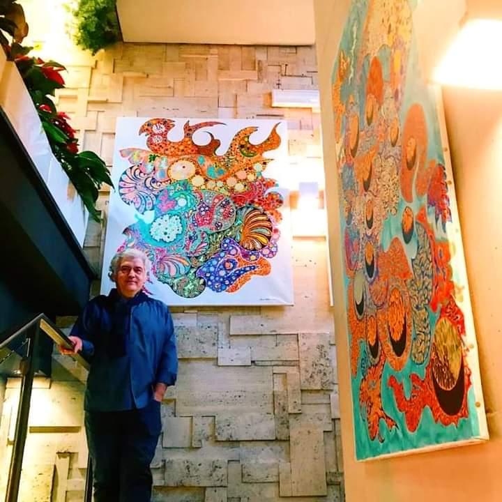 Ramón Soberón en Momart cafe di Roma