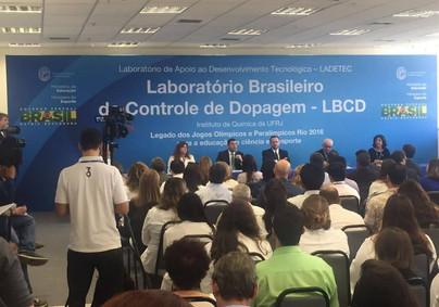Inauguração do Lab. de Controle de Dopagem UFRJ