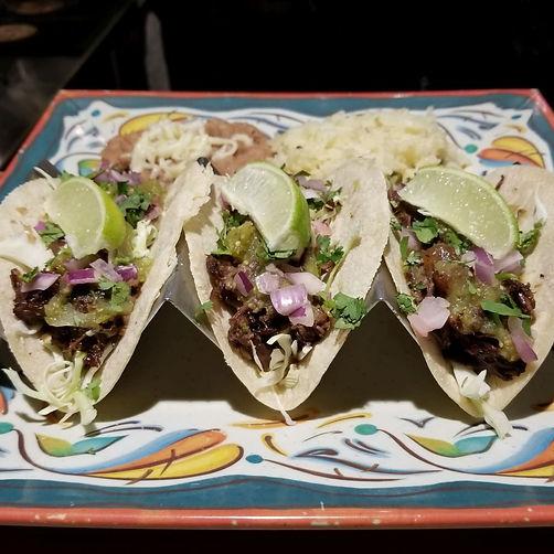 Tacos de Cachete (beef cheek)