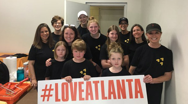 #loveatlanta the members of Passion City Church came out and made Atlanta the Clifton Sanctuary Homeless Shelter a better place for our guests this week