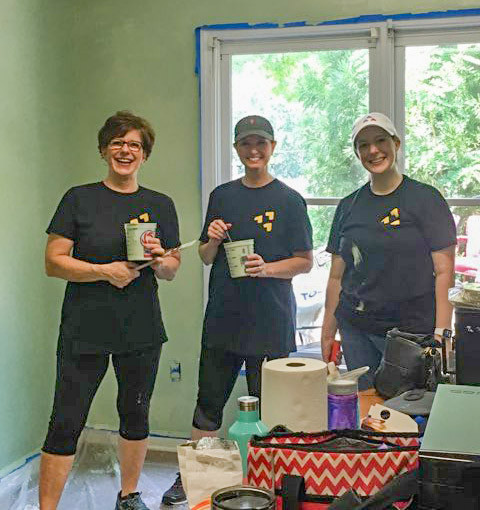 The #LoveAtlanta group painted the Meeting room at Clifton Sanctuary Minstries