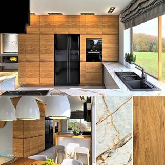 Dom w Pile_Kuchnia wood