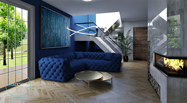 Salon Classic Blue / Dom pod Piłą
