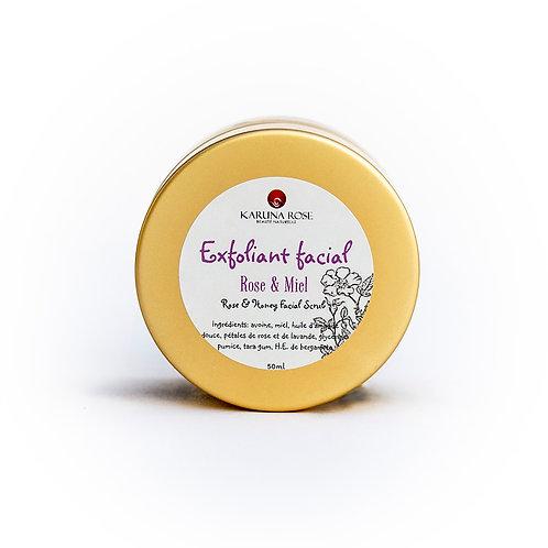 Masque exfoliant rose & miel