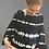 "Thumbnail: Blue Poeny ""Wave"" tie dye cape hoodie top"