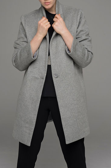 """The Power of Grey """"City"""" tailored coat in fog grey"""