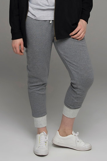 "The Power of Grey ""Storm"" two-tone track pants in grey"