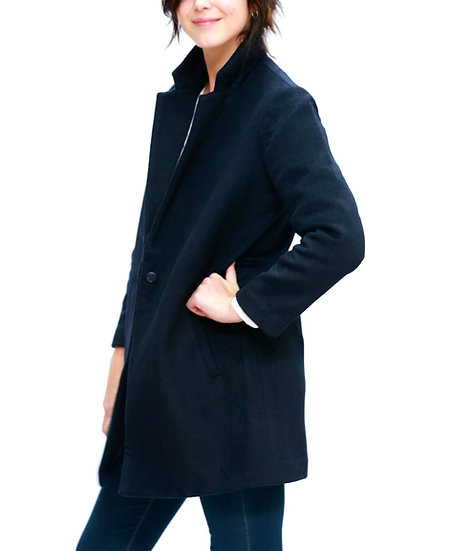 """The Power of Grey """"City"""" tailored coat in ink navy"""