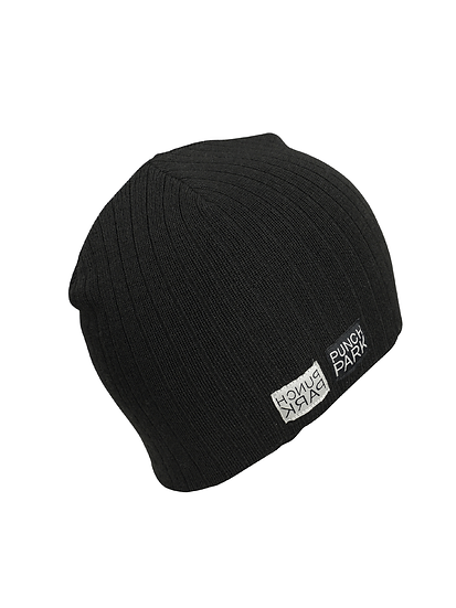 """Punch Park """"Reflection"""" knitted wool blend hat in black"""