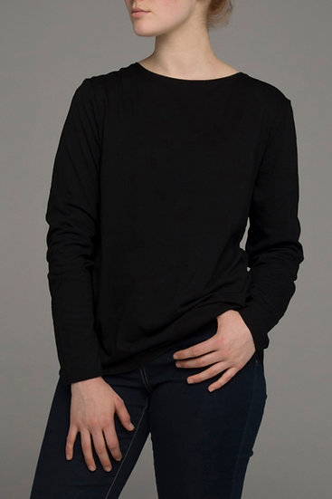 "Punch Park ""Grounded"" stretch long sleeve top in black"