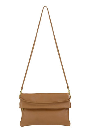 TAN  WITH  GOLD  SWITCH BAG