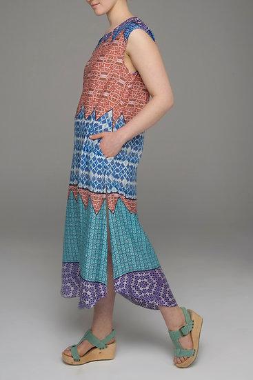 """Beech & Bird Tribal print """"Lark"""" dress with cut-out back"""