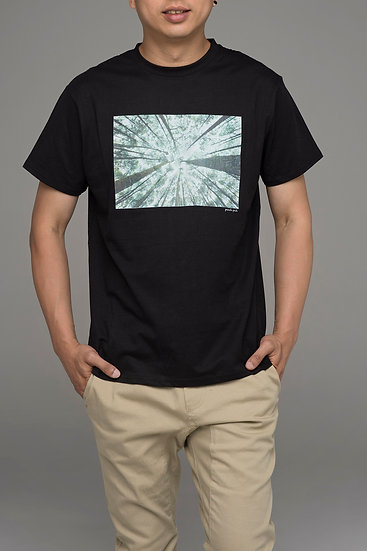 "Punch Park ""Forest"" classic fit tee in black"