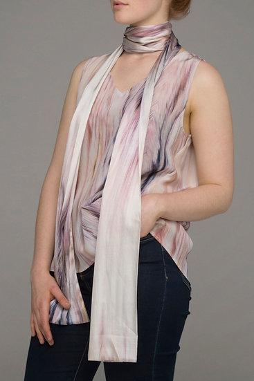 """Beech & Bird """"Beechwood"""" print long oblong silk scarf"""
