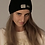 """Thumbnail: Punch Park """"Reflection"""" knitted wool blend hat in black"""