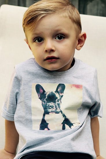 """Punch Park """"Gizmo"""" toddler tee in grey marle"""