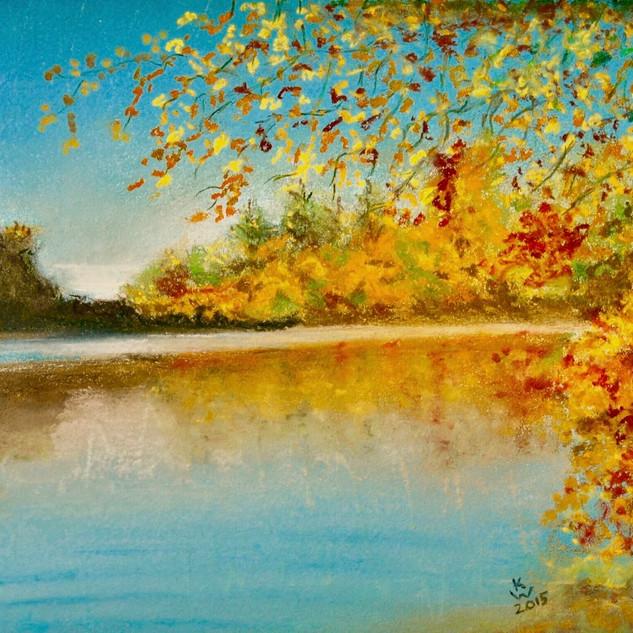 Autumn Gold at Bolam Lake