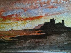Bamburgh Castle Sunset300.JPG