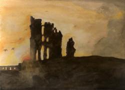 Sunrise at Tynemouth Priory 300.jpg
