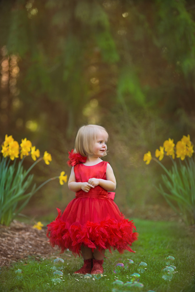 Little Girl Photo Session In Washington Arboretum