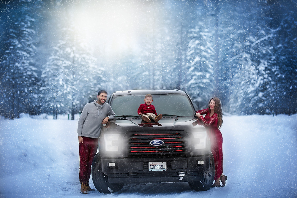 Winter Family Photo Session In Cle Elum
