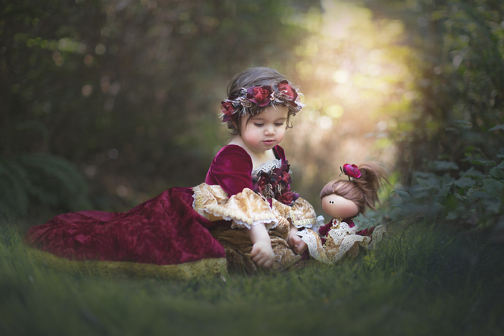 A Girl With A Doll Photography Session