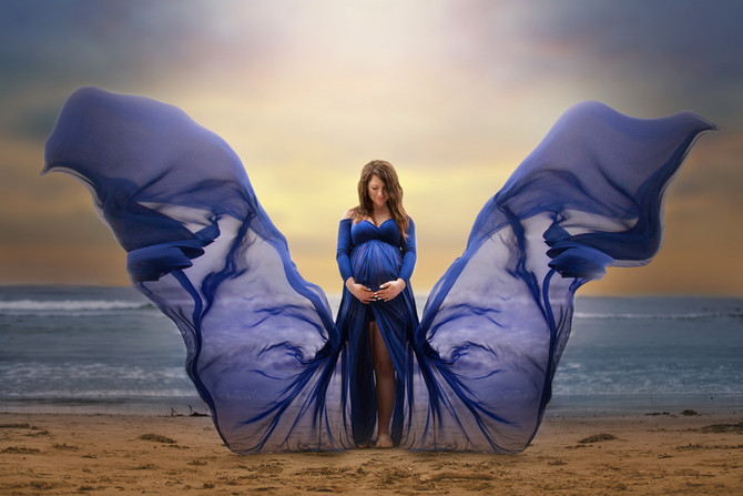 A Magical Beach Maternity Session