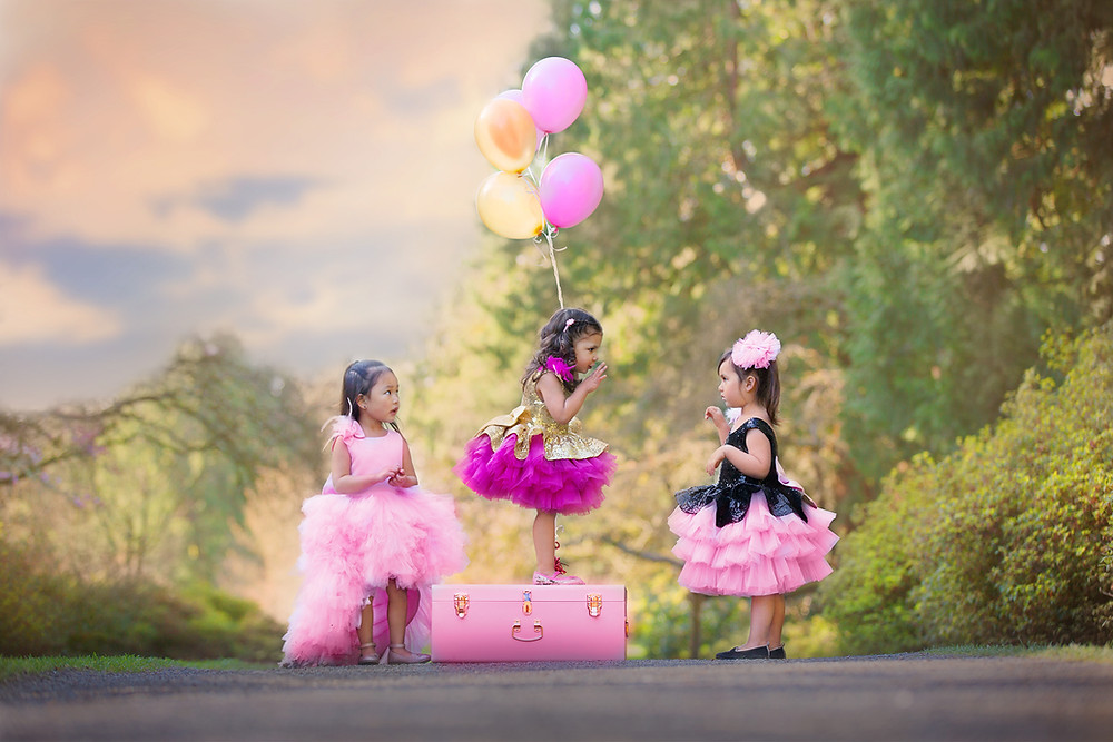 Little Girl With Balloon Photo Session