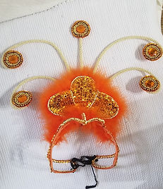 Orange Headpiece