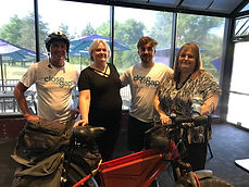 Healthy Living- l-r Jeff Salter, CEO, Founder, June Mourgis, Omaha Franchise, Jeff's son A