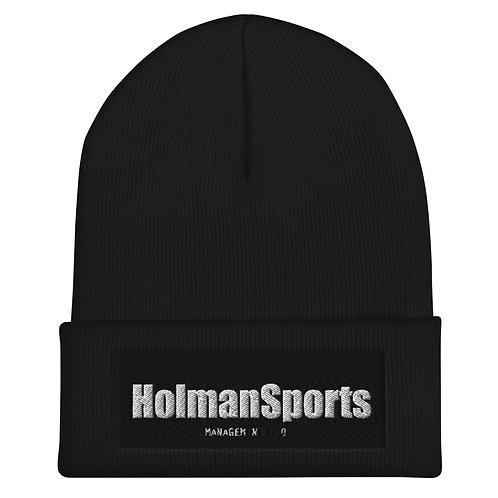 Holman Sports - Black Cuffed Beanie