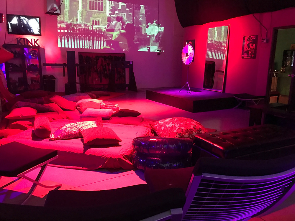 Before the guests arrived for the February First Friday Kinky Movie Night at Mile High Dungeon