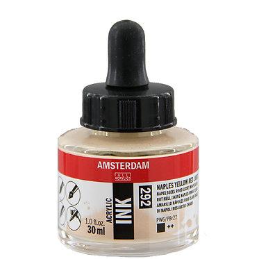 Encre Acrylique Amsterdam Jaune Naples Rouge 292