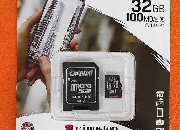 Cartão de memória 32Gb com adaptador