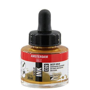 Encre Acrylique Amsterdam Or Foncé 803