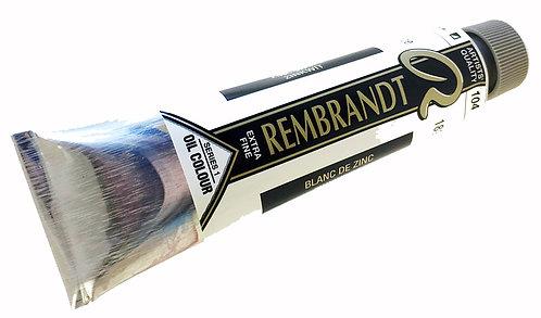 Huile Rembrandt Blanc Zinc 104 S1