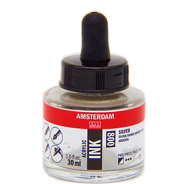 Encre Acrylique Amsterdam Argent 800